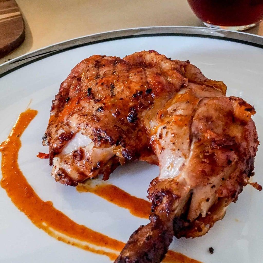Mozambique Piri piri chicken serving suggestion