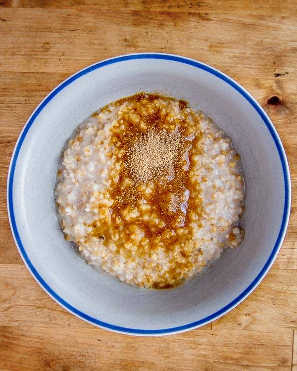 Foolproof Easy Overnight Sous Vide Steel Cut Oats with brown sugar!