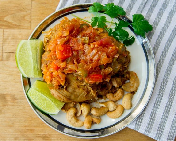 Traditional Haiti Cashew Chicken 1