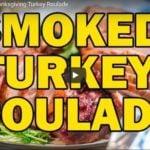 Youtube thumbnail of smoked turkey roulade