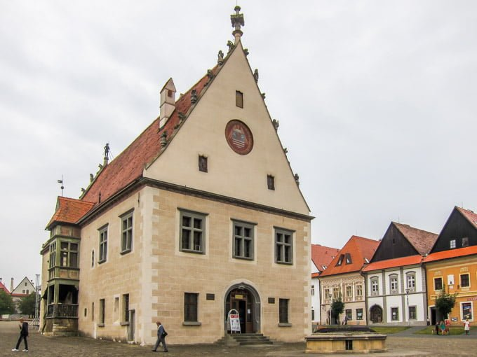 Pretty building at Bardejov's historic city center